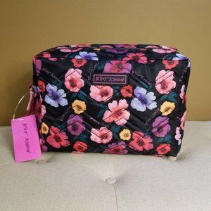 Betsey Johnson Flower Cosmetic Bag Large Quilted